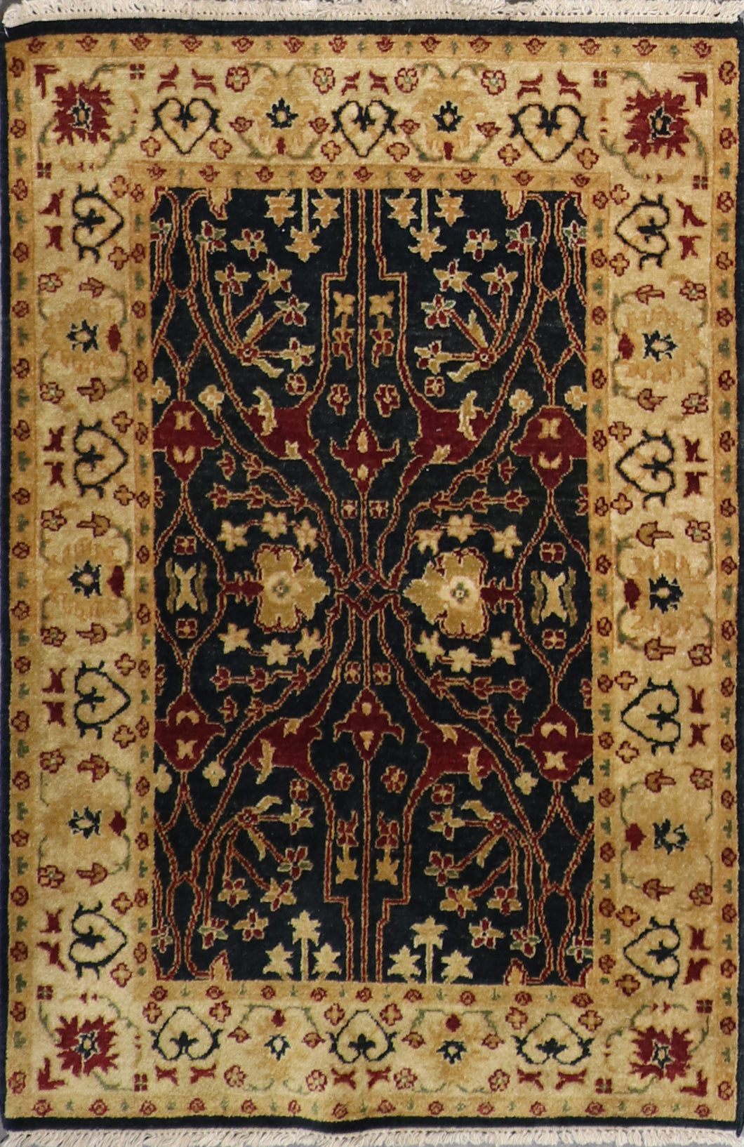 4'x6' Traditional Charcoal Wool Hand-Knotted Rug - Direct Rug Import | Rugs in Chicago, Indiana,South Bend,Granger
