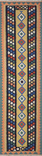 "Load image into Gallery viewer, 2'8""x9'8"" Persian Kilim Gold Wool Hand-Knotted Runner"