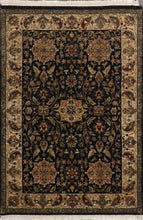 Load image into Gallery viewer, 4'x6' Decorative Black Hand Spun Wool Hand-Knotted Rug - Direct Rug Import | Rugs in Chicago, Indiana,South Bend,Granger