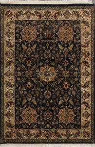 4'x6' Decorative Black Hand Spun Wool Hand-Knotted Rug - Direct Rug Import | Rugs in Chicago, Indiana,South Bend,Granger