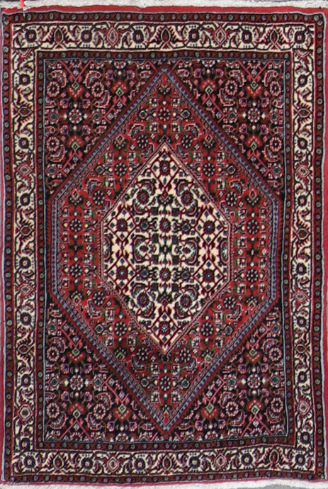 "2'4""x3'7"" Traditional Persian Bijar Wool Hand-Knotted Rug - Direct Rug Import 