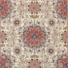 "Load image into Gallery viewer, 4'2""x6'2"" Traditional Tabriz Ivory Wool & Silk Hand-Knotted Rug - Direct Rug Import 