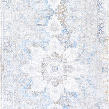 "Load image into Gallery viewer, 2'7""x10' Transitional Gray Wool & Silk Hand-Finished Rug - Direct Rug Import 