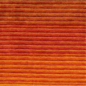 "5'6""x8' Contemporary Orange Wool Hand-Knotted Rug"