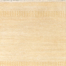 "Load image into Gallery viewer, 5'10""x9' Contemporary Ivory Wool Hand-Knotted Rug"