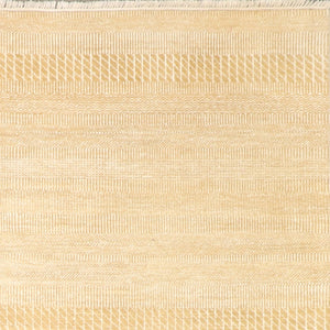 "5'10""x9' Contemporary Ivory Wool Hand-Knotted Rug"