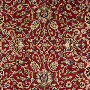 "4'3""x6'3"" Traditional Red Wool Hand-Knotted Rug - Direct Rug Import 
