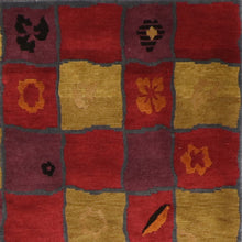 "Load image into Gallery viewer, 5'10""x8'10"" Contemporary Tibet Red Wool Hand-Knotted Rug"