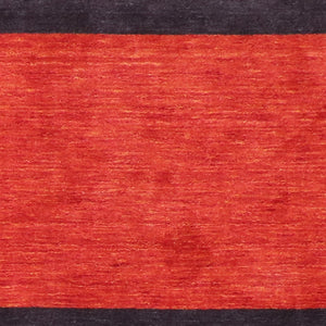 "5'8""x7'10"" Contemporary Red Wool Hand-Knotted Rug - Direct Rug Import 