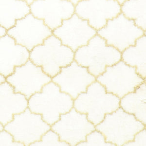 "4'x5'11"" Contemporary Ivory Moroccan Wool Hand-Knotted Rug - Direct Rug Import 