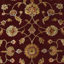 "Load image into Gallery viewer, 4'x6'2"" Traditional Dark Red and Gold Wool &Silk Hand-Knotted Rug - Direct Rug Import 