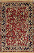 "Load image into Gallery viewer, 4'3""x6'3"" Traditional Red Wool Hand-Knotted Rug - Direct Rug Import 