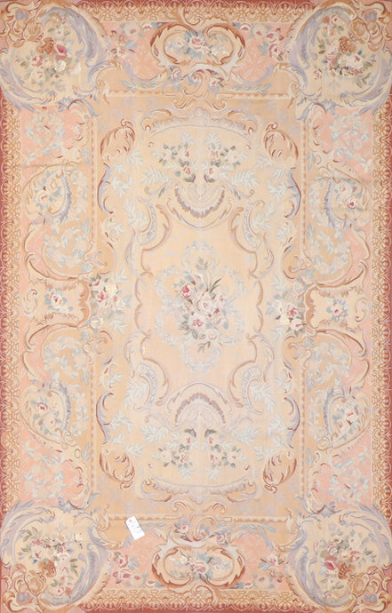 "5'11""x9'2"" Aubusson Wool Hand-Knotted Rug"