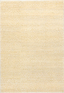 "4'2""x6'3"" Transitional Tan and Gold Wool Hand-Knotted Rug - Direct Rug Import 