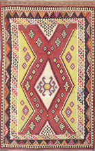 "Load image into Gallery viewer, 4'11""x8' Persian Kilim Red Wool Hand-Knotted Rug"