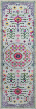 "Load image into Gallery viewer, 3'x9'9"" Decorative Gay,Green & Pink Wool & Silk Hand-Knotted Rug - Direct Rug Import 