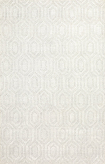 5'x8' Transitional Gray Wool & Bamboo Silk Hand-Knotted Rug