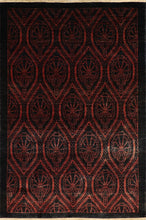"Load image into Gallery viewer, 4'8""x6'11"" Transitional Black Wool Hand-Knotted Rug"
