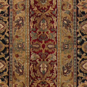 "4'x6'1"" Decorative Red Wool Hand-Knotted Rug"