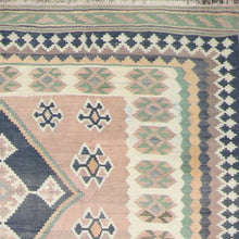 "Load image into Gallery viewer, 5'2""x9' Persian Kilim Brown Wool Hand-Knotted Runner"