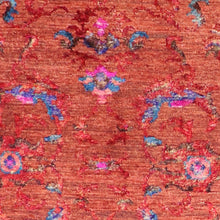 "Load image into Gallery viewer, 2'9""x9'10"" Decorative Red & Pink Wool & Silk Hand-Knotted Rug - Direct Rug Import 