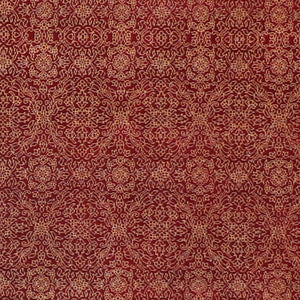 "4'8""x6'7"" Traditional Red Wool Hand-Knotted Rug - Direct Rug Import 