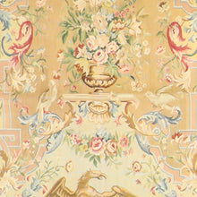 "Load image into Gallery viewer, 4'5""x5'5"" Aubusson Gold Wool Hand-Knotted Tapestry"