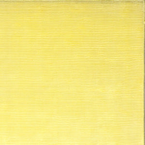"5'5""x8'6"" Contemporary Yellow Bamboo Silk Hand-Knotted Rug"