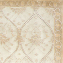 "Load image into Gallery viewer, 4'11""x8'11"" Transitional Ivory Wool & Silk Hand-Knotted Rug"