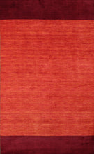 "Load image into Gallery viewer, 5'1""x8'6"" Contemporary Red Wool Hand-Knotted Rug"
