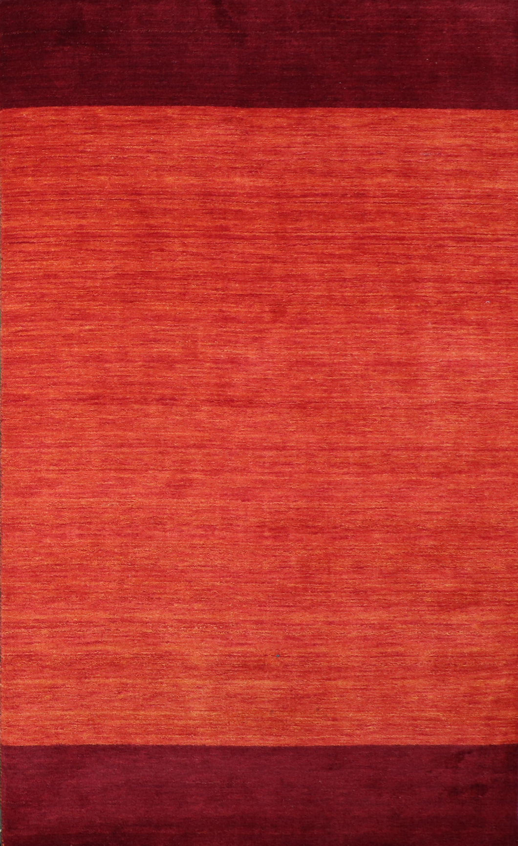 "5'1""x8'6"" Contemporary Red Wool Hand-Knotted Rug"