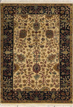 "Load image into Gallery viewer, 4'2""x6' Decorative Tan Wool Hand-Knotted Rug - Direct Rug Import 