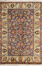 Load image into Gallery viewer, 4'x6' Decorative Purple Wool Hand-Knotted Rug