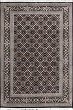"Load image into Gallery viewer, 4'1""x6'2"" Decorative Black Wool Hand-Knotted Rug - Direct Rug Import 