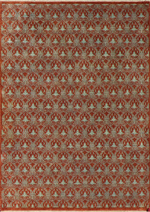 "5'x7'1"" Transitional Rust Wool Hand-Knotted Rug"