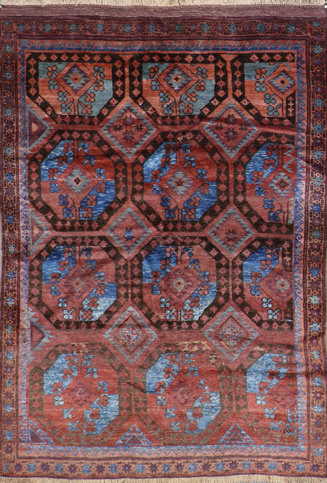 "5'2""x7'5"" Persian Kilim Brown Wool Hand-Knotted Rug"
