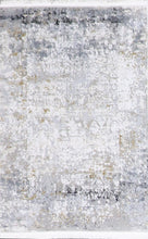 "Load image into Gallery viewer, 1'11""x3' Transitional Gray Wool & Silk Hand-Finished Rug"