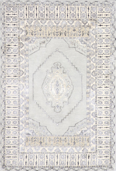 4'x6' Decorative Gray Vintage Wool & Silk Hand-Tufted Rug - Direct Rug Import | Rugs in Chicago, Indiana,South Bend,Granger