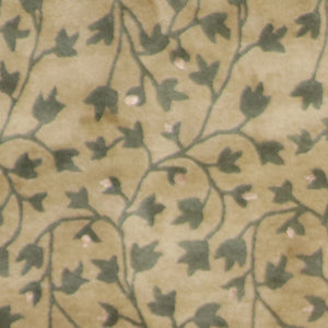 "3'11""x6'2"" Decorative Overall Leaves Wool & Silk Hand-Tufted Rug"