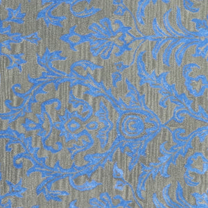 6'x9' Transitional Blue Wool & Silk Hand-Tufted Rug - Direct Rug Import | Rugs in Chicago, Indiana,South Bend,Granger