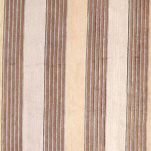 8'x10' Modern  Stripes Beige Tibet Wool Hand-Knotted Rug