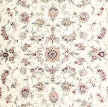"Load image into Gallery viewer, 8'x9'6"" Traditional Ivory Wool & Silk Hand-Knotted Rug - Direct Rug Import 