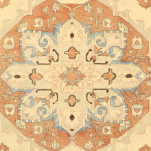 "Load image into Gallery viewer, 8'1""x10' Traditional Serapi Orange Wool Hand-Knotted Rug - Direct Rug Import 