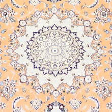 "Load image into Gallery viewer, 4'4""x7' Traditional Persian Tabriz Orange-Gold Wool & Silk Hand-Knotted Rug - Direct Rug Import 