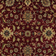 "Load image into Gallery viewer, 5'9""x8'6"" Traditional Burgundy Kashan Wool & Silk Hand-Knotted Rug - Direct Rug Import 