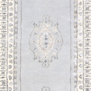 "2'9""x12' Decorative Vintage Wool & Silk Hand-Tufted Rug - Direct Rug Import 