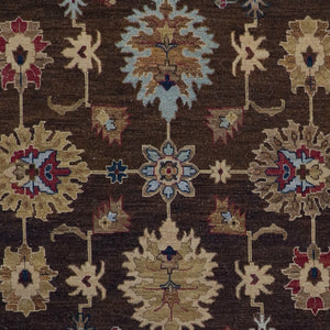 "5'11""x8'11""   Casual Flat weave Brown Wool Hand-Knotted Rug - Direct Rug Import 