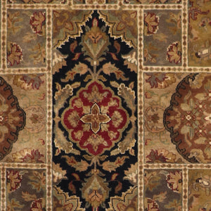 "5'4""x8'2"" Traditional Yazed Wool Hand-Knotted Rug - Direct Rug Import 