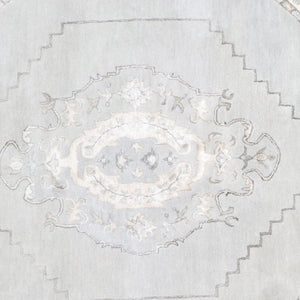 "8'5""x8'5"" Decorative Round Vintage Wool & Silk Hand-Tufted Rug - Direct Rug Import 