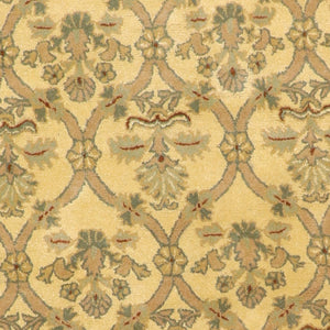 "6'2""x6'2"" Decorative Tan Wool Hand-Tufted Rug - Direct Rug Import 